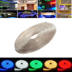 12M 42W Waterproof IP67 SMD 3528 720 LED Strip Rope Light Christmas Party Outdoor AC 220V