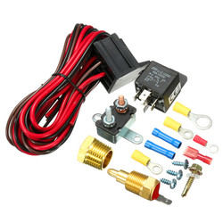 210~195 Degree Engine Cooling Fan Thermostat Temperature Switch Sensor Relay Kit