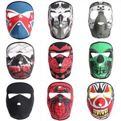 Full Face Mask Motorcycle Reversible Biker Skateboard Scary Sports Neoprene