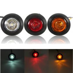 Universal Amber/Red/White Side Marker Light LED Lamp for 12V/24V Car Van Truck Trailer