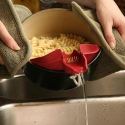 Honana Vegetables Food Control Drain Device Strainer Debris Filter Kitchen Gadget Utility