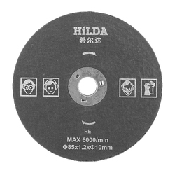 HILDA 10mm/15mm Resin Cutting Disc 85x1.2mm Saw Blade for Steel Iron