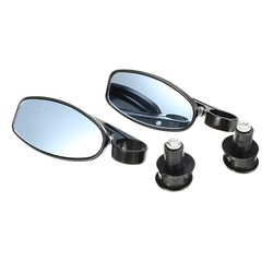22mm Motorcycle Retro Rear View Mirror Cherry Handlebar Without Folding Mirrors
