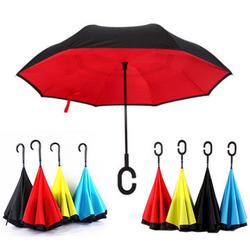 UB-1 Creative Reverse Double Layer Umbrella Folding Inverted Windproof Car Standing Rain Protection