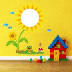 Children Creative Washable Wall Sticker Sunflower Sketchpad Room Decor