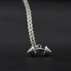 European Style Dumbbells Fitness  Instrument Shape Rock Unisex Necklace