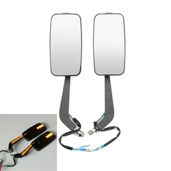 8mm 10mm LED CNC Aluminum Motorcycle Rear View Side Mirrors