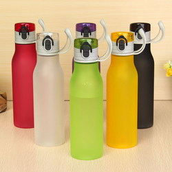 550ml Multi-color Frosted Plastic Water Cup Portable Fashion Style Sports Cups
