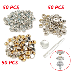 50Set Snap Fastener Screws With Attaching Tool For Boat Marine Canvas Cover