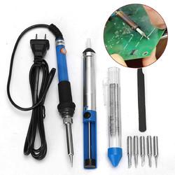 60W 110V Electric Soldering Iron Kit Adjustable Temperature Welding Starter Tool