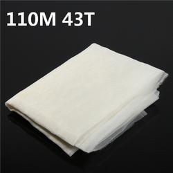 110M 43T Polyester Silk Screen Printing Mesh Fabric Sheet 3 Yards
