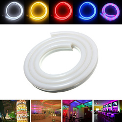 1M 2835 LED Flexible Neon Rope Strip Light Xmas Outdoor Waterproof 110V