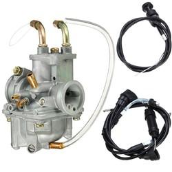 Carburetor Carb Throttle Gas Choke Cable Set For Yamaha PW50 1981-2009