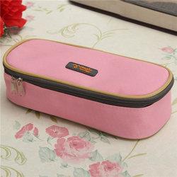 Large Capacity Canvas Zipper Pencil Case Pen Cosmetic Bag