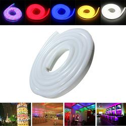 2M 2835 LED Flexible Neon Rope Strip Light Xmas Outdoor Waterproof 220V