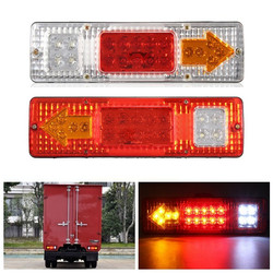 1.5W 24V LED Brake Tail Light Turning Signal Lamp for Trailer Truck Car Caravan Boat UTV