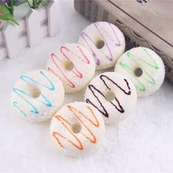 10PCS 7CM Random Color Squishy Coconut Cream Donuts Fridge Magnet Cream Scented