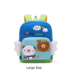 1-6 Years old Children Lovely Cartoon Backpack Cotton Crepe Soft Safe School Bag