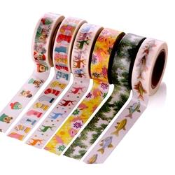 Creative Christmas Tree Santa Claus Tape Decorative Adhesive Washi Tape Masking Sticker DIY Tools