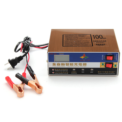 12V 10A 140W Smart Fast Battery Charger For Car Motorcycle LED Display Stainless Steel