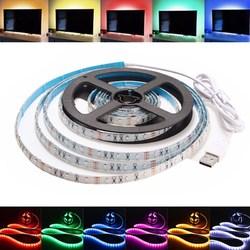 1M Waterproof USB SMD3528 TV Background Computer LED Strip Tape Flexible Light DC5V