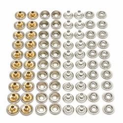 80Pcs Stainless Steel Snap Set Marine Grade Snap Fastener Stud Cap Socket