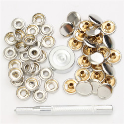 22pcs 15mm Metal Canvas Buckle Quick Snap Fastener Buttons Kits