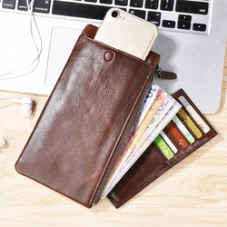 CaseMe Simple Vertical Zipper Multifunctional Card Slots Wallet Bag For 5.5 Inch Smartphone