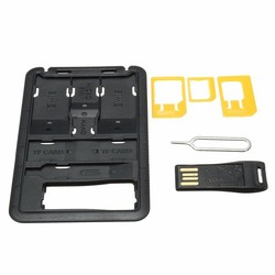 7 Storage Slots and Memory Card Read SIM Card Needle TF Card Sim Card Holder Case for iphone Samsung