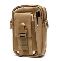 6inches Cell Phone Men Nylon Crossbody Bag Tool Tactical Bag