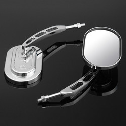 10mm Pair Rear View Mirrors For Harley Davidson Softail Springer Heritage Electra Glide