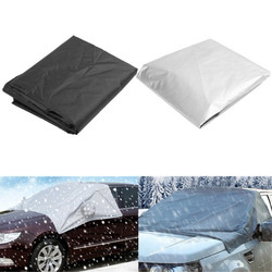 170cmx110cm Car Wind Shield Snow Cover Sunshade Waterproof Protector with Hook