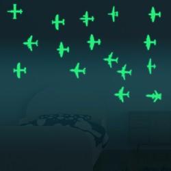 Honana DX-129 12PCS 7x8cm Fluorescent Glow Fighter Wall Sticker