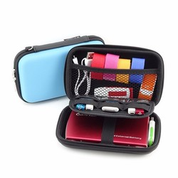 USB Flash Drive Earphone Digital Gadget Pouch Travel Silver Storage Bag