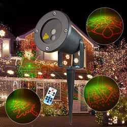 R&G Remote Christmas 8 Pattern Waterproof Laser Projector Stage Light Garden Lawn Landscape Lamp