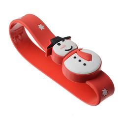 Category: Dropship Drives And Storage, SKU #1111062, Title: 16G USB2.0 Christmas Snowman Wristband Shape USB Flash Drive