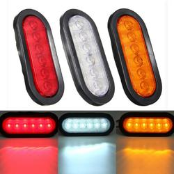 LED Stop Lights Side Marker Turn Signal Lamp Surface Mount Oval 17x8.2cm for Trailer Truck