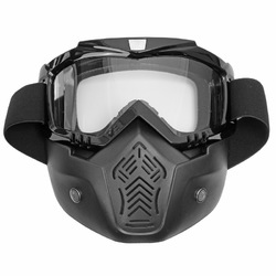 Motorcycle Helmet Face Mask Windproof Shield Goggles Detachable 8 Colors