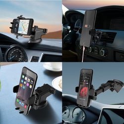 BENHONG Universal Car Air Vent Mount Front Glass Sucker Desk Stand Holder for Phone 3-6.5 inches