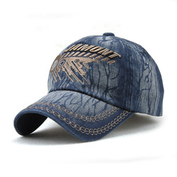 Unisex Cotton Washed Vintage Embroidery Baseball Cap Adjustable Golf Snapback Hat
