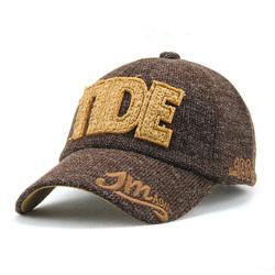 Unisex Cotton Blend TIDE Letter Embroidery Baseball Cap Adjustable Golf Snapback Hat For Men Women