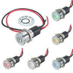 12V 14mm LED Dash Panel Warning Light Indicator Lamp