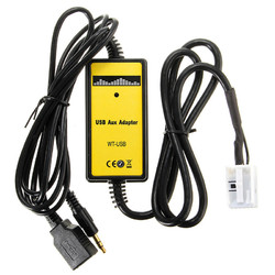 Car USB MP3 Interface Adapter & Card Reader 3.5mm AUX In Input For 12Pin VW Audi