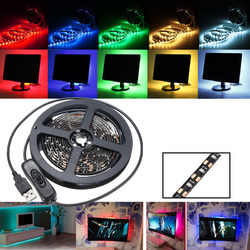 200CM SMD3528 LED Flexible Strip Tape Light USB Switch Lamp PC TV Background Lighting DC5V