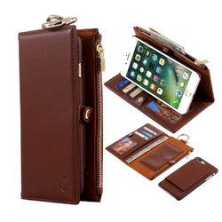 Detachable Zipper Wallet Kickstand Case For iPhone 7 Plus/8 Plus