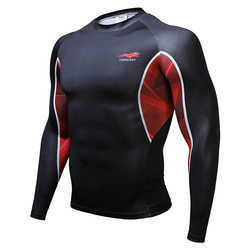 3D Printing Sports Mens T-shirts GYM Training Tight Breathable Quick Dry Tops Tees