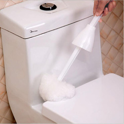Squeeze Water Type Toilet Brush Multifunction Soft Fur Toilet Cleaning Brush Hygiene Brush