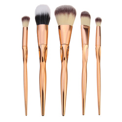 5pcs Soft Makeup Brushes Set Kit Golden Cosmetics Tools Eye Shadow Lip Blending Blush Brush