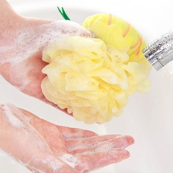 Candy Color Fruit Shape Bath Ball Towels Body Shower Sponge Nylon
