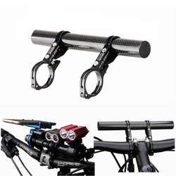GUB 202 Carbon Fiber Al Bike Bicycle Extended Handlebar Extension Light Lamp Computer Phone Mount Bracket Stand Holder